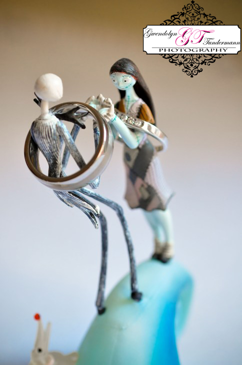 Jackie & Zacs Nightmare Before Christmas cake topper made for an awesome rock shot!