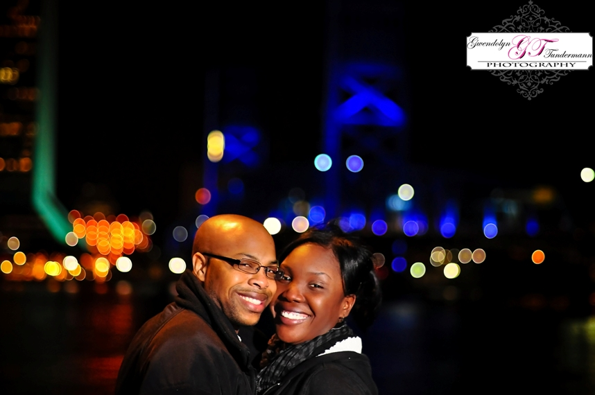 Downtown Jacksonville Engagement Photos | Main Street Bridge