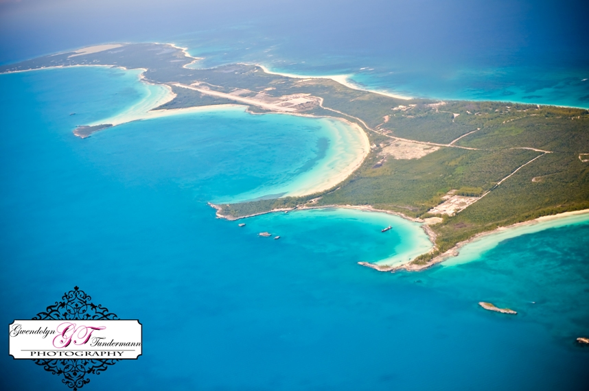 An aerial view of Eleuthera