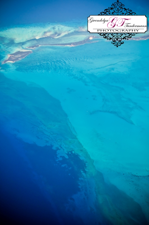 The shallow waters of the Caribbean