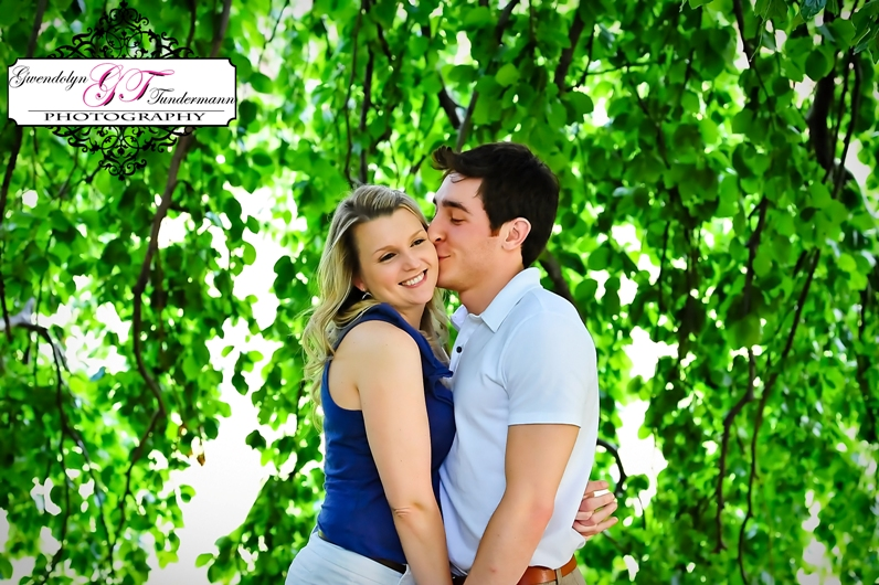 Downtown Boston engagement photos at the Public Garden