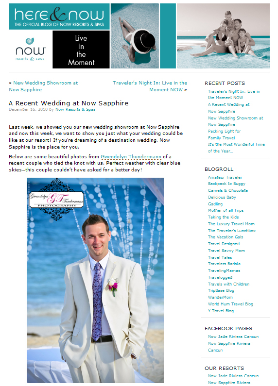 NOW Sapphire Riviera Cancun wedding photos