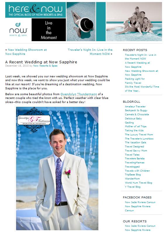 NOW Sapphire Riviera Cancun wedding photos