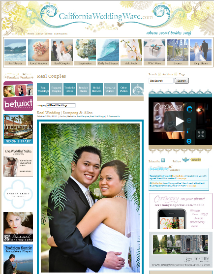 Featured on California Wedding Wave