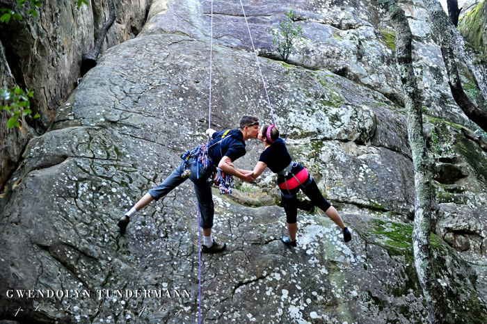 Mount Diablo engagement photos rock climbing